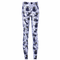 Wholesale Cheap Printed Leggings - Sport Fans High Elastic Slimt Fit Cheap Cats Camouflage Leggings Digital Full Print Leisure Leggins Sex Slim Fit Trousers LWDK22-03 WR