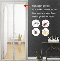 filet porte insecte achat en gros de-Aimant de moustiquaire de moustiquaire de porte de moustiquaire de porte d'utilisation de moustiquaire de porte de porte avec des aimants sur les aimants d'écran de maille de porte 5