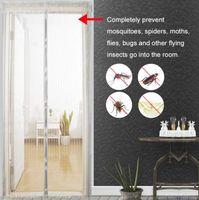 magnete vorhänge großhandel-Heimgebrauch Moskitonetz Vorhang Magnete Tür Mesh Insekt Sandfliege Netting mit Magneten auf der Tür Mesh Screen Magnete 5 Größe