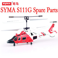 Wholesale Blade Heli - SYMA S111G Main Blades USB Cable Charger Motor Mini rc R C Radio Control Helicopter Heli Copter Boy Toys Spare Parts Access Accessories