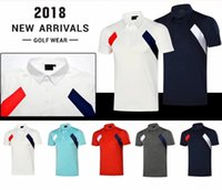 Wholesale Oem Cooler - 2018 Ti Golf T-shirt short sleeve dry fit absorbent anti-wrinkle cooling touch sport shirts 5 color OEM available