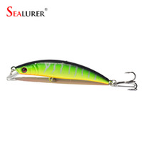 Wholesale Pike Floats - SEALURER 1pcs 8CM 8.2g Fishing Lures Pike Fishing Bait Minnow Bass Floating Perch Lure Fishing Tackle