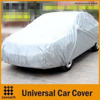 Wholesale Outdoor Waterproof Covers - Silver - Universal PEVA Car Covers Styling Indoor Outdoor Sunshade Heat Protection Waterproof Dustproof Anti UV Scratch Resistant Sedan
