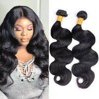Body Wave Cheap Hair Hair Packs 4 Pcs / Lot Malaysian Indian peruvian Brazilian Unprocessed Double Weft Natural Black 7a Virgin Hair