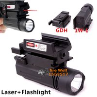2016 NUEVO Tactical Red Dot Laser Sight + Linterna LED Combo Caza láser para pistolas Glock 17,19,20,21,22,23,30,31,32