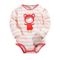 Wholesale Toddler One Piece Sleepwear - Infant toddler baby boys girls lovely bodysuits outfit one piece avaialble newborn rompers costume hot selling sleepwear jumpsuits
