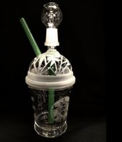 Wholesale starbucks cup oil rig for sale - Group buy SANDBLASTED DABUCCINO STARBUCKS GLASS BUBBLER OIL RIG Dab Concentrate Oil Rig HITMAN GLASS DABUCCINO INSPIRED CUP RIGS GLASS BONGS