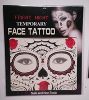 Wholesale Tattoos Face Best - New Festival Face Tattoos Face Temporary Tattoos Hallowmas Tattoos 9 Style Colors Best Quality Gift DHL shipping