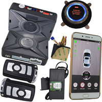 Wholesale Gsm Mobile Alarm System - cell phone car alarm security system with gsm mobile app control and gps location sms central lock start stop engine