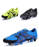 Wholesale Shox Athletic - 2016 Mens Fashion High Quality Turf Athletic Sneakers Football Boots Cleats Shox Soccer Shoes