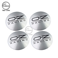 56.5mm 3D Car Badge Wheel Center Hub Cap Sticker Durable Logo Brand Emblem Car Accessory Anti Fade Wheel Decoração ajustável para OZ BLACK