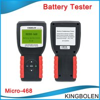 Wholesale free battery testing - DHL Free Shipping Newly Car Battery System Tester MICRO-468 for 12v & 24v system Multi-language micro 468 for SOH SOC CCA IR Testing tool