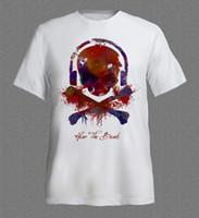 Wholesale Rave T Shirts - t shirts Techno Music Ibiza Rave Skull House Love Dj Club Dance Retro Acid T Shirt 2017 New Mens T Shirts