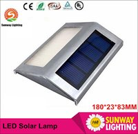 Wholesale Cheap White Leds - Solar Lights LED Lamps solar lights for garden IP44 2 Leds Outdoor Wall lightImported single crystal silicon solar panel cheap wholesale