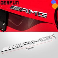 Logotipo del coche 3D Chrome Metal AMG Badge Sticker para Mercedes Benz Trunk Rear Decal SL SLK Class CLK