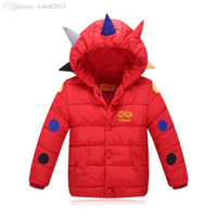 Wholesale Girls Goose Down Coats - Wholesale-Retail new children's clothing down padded baby boy and girl cotton jacket thick cartoon fashion outerwear baby winter coat