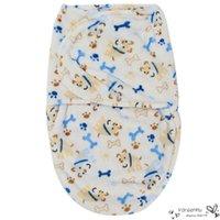 Wholesale Kids Sleeping Bags Boys - Mantas Para Cama Blankets Plush Newborn Baby Infant Swaddle Cartoon Wrap Swaddling Soft Sleeping Blanket Towel Thick Warm Kids for Bed Bag