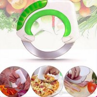 Wholesale Green Cutter Vegetable - Round Wheel Kitchen Rolling Knife Kitchen Knives With Stainless Steel Blade Vegetable Meat Cutting Tools Cake Pizza Cutter