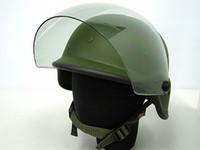ingrosso caschi airsoft nero-2 colori Airsoft Tactical Army SWAT M88 Casco USMC Shooting Classic Protettivo PASGT Casco Black / OD con Visiera trasparente