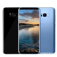 Wholesale Dual Sim Phones Wifi Bluetooth - 5.8inch Goophone S8 plus Unlocked phone MTK6580 Quad Core Android 6.0 1G 4G Show Octa core Show 4G LTE Smartphone
