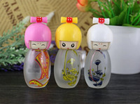 Wholesale Dolls Samples - 20ml doll perfume bottles Frosting glass   empty spray bottles rosted Bottle Sample perfume bottles 100Pcs lot by DHL Free Shipping