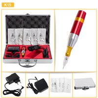 Wholesale Complete Professional Rotary Tattoo Kits - Classical Complete Set Multifunctional Kit Permanent Makeup Machine Kit Rotary Tattoo Machine Kit K15 Free Shipping