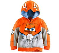 Wholesale Planes Dusty - Wholesale-Hot Sale Pixar Plane Dusty Crophopper Goodies Outfit Hoody Coat Sweatshirt for Boys Girls Kids Children SA-076