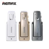 ingrosso t6 driver-Remax RB-T6 Auricolare Bluetooth senza fili a lunga durata di attesa Cuffie per la musica Driver per auto Auricolare vivavoce con base di ricarica intelligente