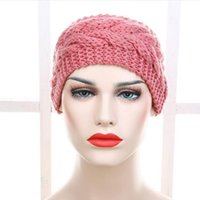 Wholesale Heart Knit Headband - Hot selling 31 Colors Knitted Turban Headbands For Women Winter Warm Crochet Headband Head Wrap Wide Ear Warmer Hairband Hair Accessories
