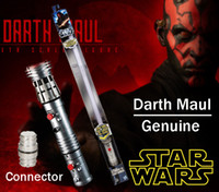 Wholesale Star Electronics - Star Wars Darth Maul Double-Bladed Lightsaber Hasbro Genuine toys Flash Sword FX LED Electronic Lightsaber Toy red Sound With connector