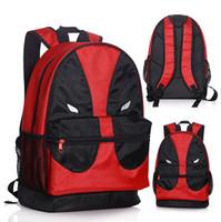 Wholesale Marvel Canvas - Wholesale-New 46*30cm Deadpool backpack marvel superheros red canvas Backpacks Toy