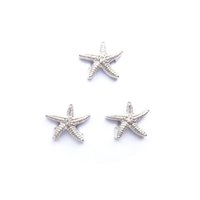 Wholesale Beads For Fishing - silver star fish charms , floating charms for living locket, 20pcs lot, 0free shipping--062