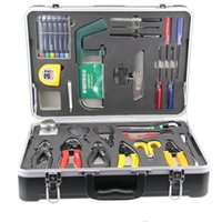 Wholesale 26 Pieces Set Fiber Optic Cable Construction Kit Fiber Optic Fusion Splicing Tool Kit FTTH Network