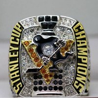 Wholesale Championship Boxing - 2016 2017 NEWEST Pittsburgh Penguins Hockey Stanley Cup championship ring NHL solid fan gift men wholeslae without box.
