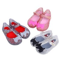 Wholesale Zig Zag Shoes - Mini sed 2016 New style Girls Sandals Campana Zig Zag Hollow Jelly Shine Kids Shoes Dogs Ornament Hollow Out Shoes