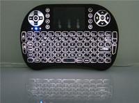 mini teclado de luz de fondo inalámbrico al por mayor-¡Venta CALIENTE! Retroiluminación portátil mini teclado Rii Mini i8 Teclado táctil inalámbrico con paquete minorista