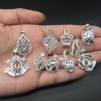 Wholesale Pearl Silver Jewellery - 10pcs of blended essential oil diffuser jewellery provides silver-plated pendant - add your own pearl, stone, to make it more attractive