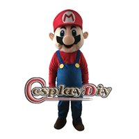 Wholesale Mario Luigi Mascot Costumes - Wholesale-Fancy Super Mario Mascot Costume Mario Luigi Mascot Costume Adult Unisex Cartoon Mascot