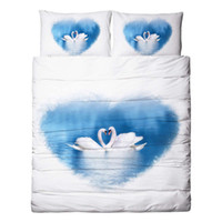Wholesale swan bedding set king resale online - New Love Swans Wedding Bedding Sets Twin Full Queen King Duvet Cover Set Pillow Covers for Adults Teens Home Textiles Winter Comforter pc