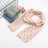 Wholesale Multicolor Winter Scarfs - Long Cotton Scarf Woman Baby Child Winter Scarves 2017 Fashion Multicolor Heart Shaped Printing Scarf Kids Winter Warm Neckerchief
