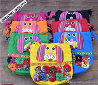 Wholesale Handmade Fabric Bags - Hot Selling Chinese Ethnic Character Cloth Handmade Preschool Baby Dog Colorful Stitch Preschool baby Cotton Dog Bag