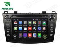 mazda araba dvd gps navigasyon radyo toptan satış-Dört Çekirdekli Android 5.1 Mazda 3 için Araba DVD GPS Navigasyon Oynatıcı 2009-2012 Radyo Bluetooth direksiyon kontrolü 8 inç Ekran 1024 * 600