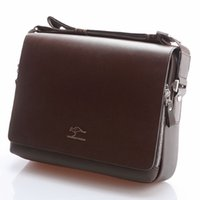 Wholesale Soft Leather Laptop Bags - Brand Designer Men Genuine Leather Handbag Black Brown Briefcase Laptop Shoulder Bag Messenger Bag 4 size
