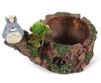 totoro dekorationen großhandel-Cartoon Movie Totoro Multi Aschenbecher Micro Landschaft Hause Dekorative Harz Dekoration Weihnachtsgeschenke Modestile Partei Ornamente