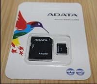 32gb micro sd karten großhandel-Neue angekommene Speicherkarte 256 GB 32 GB 64 GB 128 GB ADATA Micro SD-Karte MicroSD TF C10 SD Adapter-Kleinpaket