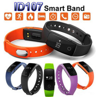 Wholesale Control Wrist Watch - Fitbit Smart Watch ID107 Bluetooth 4.0 Smart Bracelet with Heart Rate Monitor Fitness Tracker Sports Wrist Watches for Android IOS 7.1 Phone