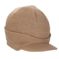 boina de invierno para hombre al por mayor-Mens Thick Wool Knit Cable Cuff visera Boinas sombreros de invierno Skull Ski Caps Oídos calientes en clima frío para la conducción