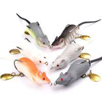 Wholesale Mice Lures - Hot New Wholesale 6pcs Lot Soft Mice Rat Lures Fishing Lure Bait Tackle 6.86cm 0.41oz-11.64g