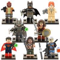 Wholesale Lex Wholesale - Wholesale-X0108 2016 New 8pcs Lot Superheroes Building Block Minifigure Deathstroke Redhood Aqua Man Pirates Batman Lex Luther