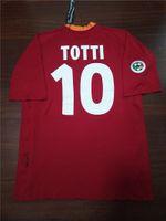 Wholesale Classical Men S Shirts - 00 01 Italia Roma Francesco Totti Batistuta Retro Soccer Jersey Throwback 2000 2001 Vintage classical Football Shirts Maillot de Foot